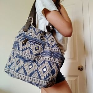 American Eagle Tribal Print Bag with Mirrors